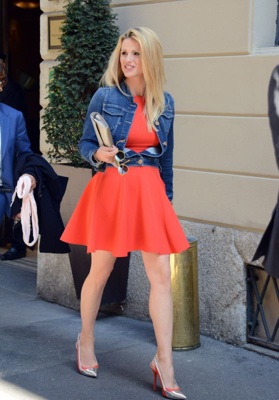 Michelle Hunziker – Out in Milan,Italy, April 2015