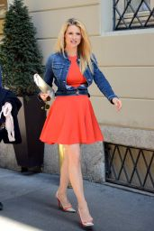 Michelle Hunziker - Out in Milan,Italy, April 2015