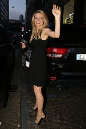 Michelle Hunziker Style - Arrives at Sadler Restaurant in Milan, April 2015
