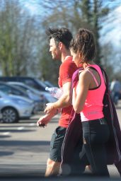 Michelle Keegan - Leaving the Gym in Essex - April 2015