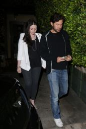 Michelle Trachtenberg - Outside Ago Restaurant in West Hollywood, March 2015
