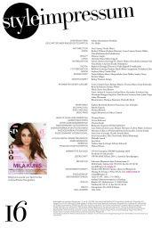 Mila Kunis - Schweizer Illustrierte Style Magazine April 2015 Issue