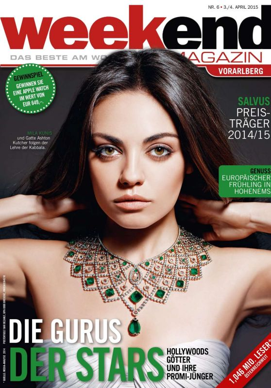 Mila Kunis – Weekend Magazin Cover April 2015