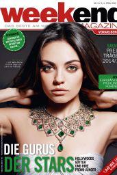 Mila Kunis – Weekend Magazin Cover April 2015