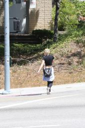 Miley Cyrus in Leggings - Hiking in Los Angeles, April 2015