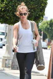 Minka Kelly - Leaving Yoga Class in LA - April 2015