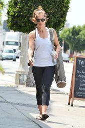Minka Kelly - Leaving Yoga Class in LA - April 2015