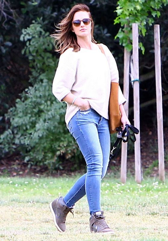 Minka Kelly - Walking Her Dog in West Hollywood, April 2015