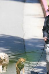 Minka Kelly Walking Her Dog - West Hollywood, April 2015