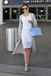 Miranda Kerr Fashion Style - at LAX Airport, April 2015