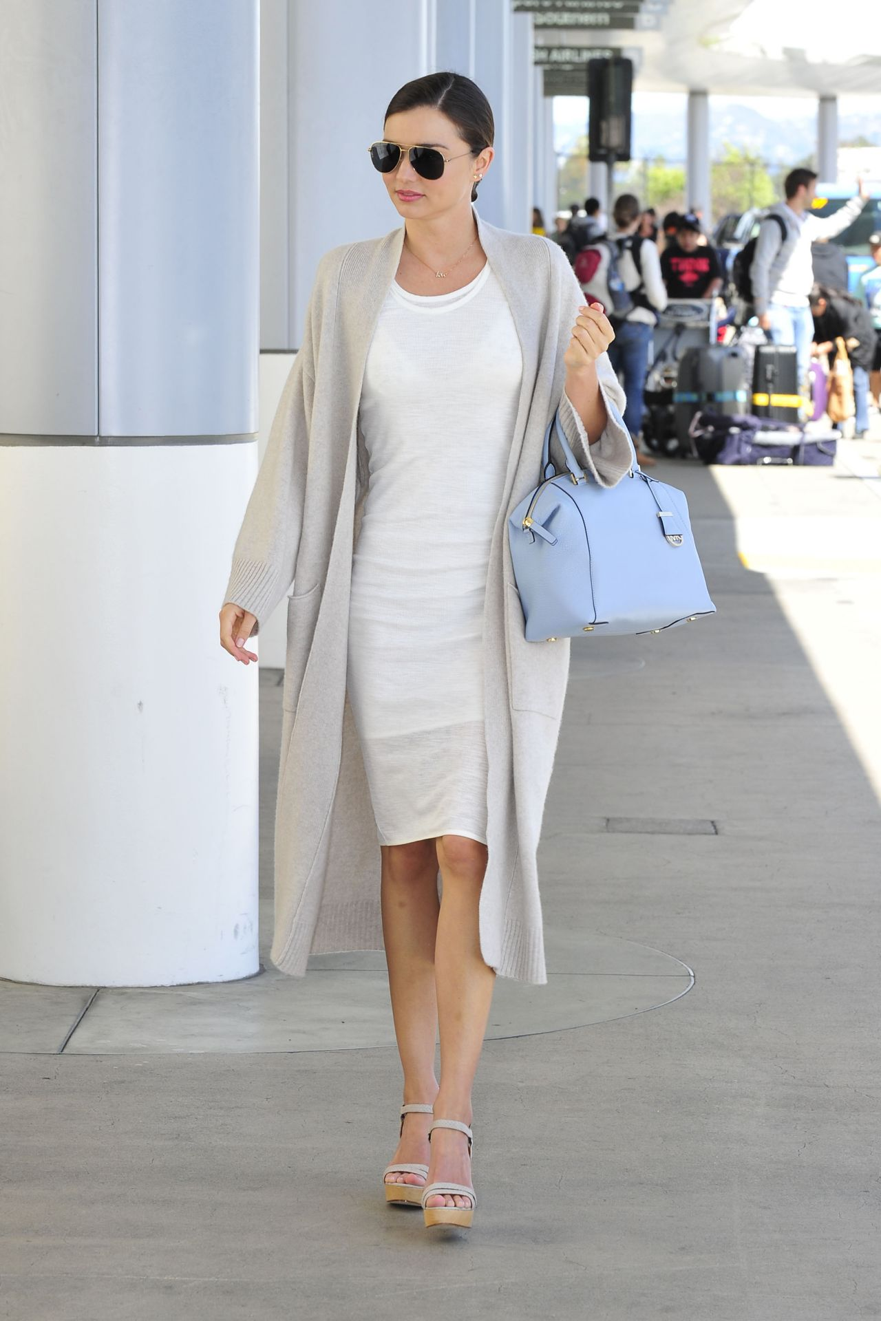 Miranda Kerr Fashion Style At Lax Airport April 2015