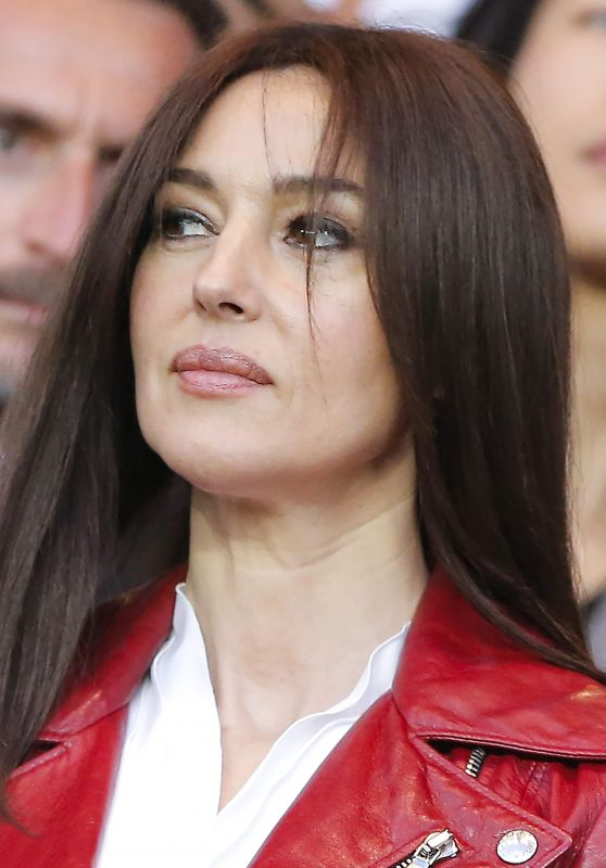 Monica Bellucci at Paris SG vs FC Barcelona at Parc des Princes in Paris