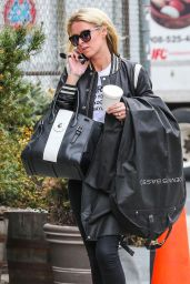 Nicky Hilton Chatting on Her Phone - New York, April 2015