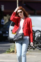 Nicola Roberts Street Style - Out in London, April 2015