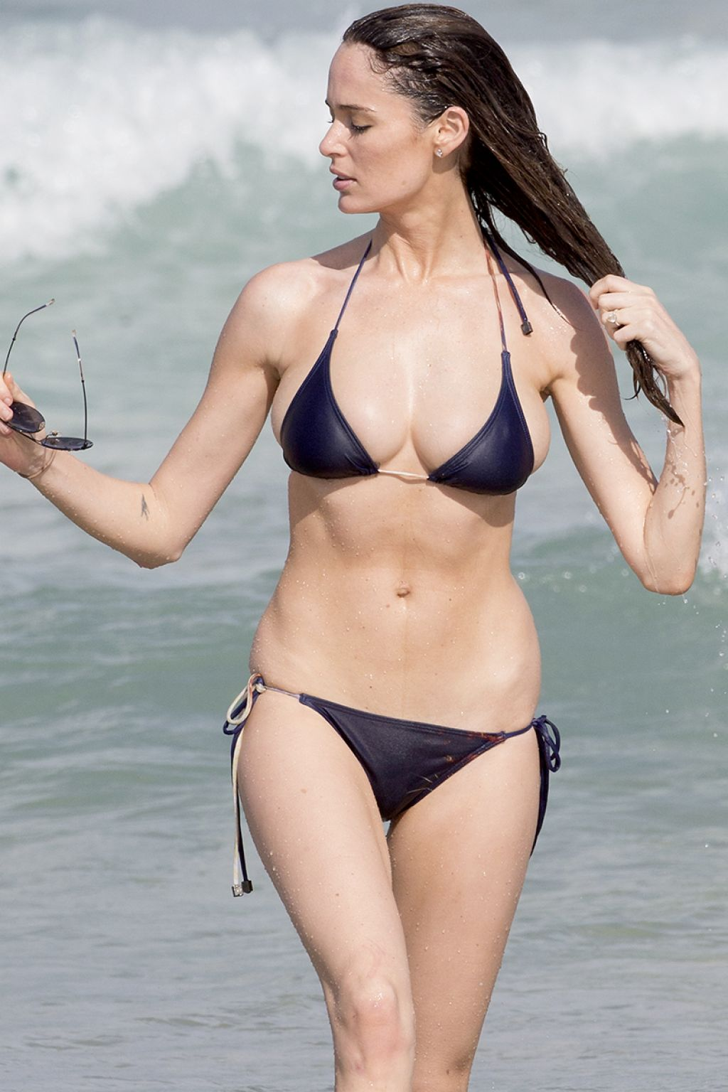 Nicole Trunfio In A Bikini On Bondi Beach April 2015