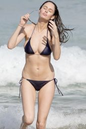 Nicole Trunfio in a Bikini on Bondi Beach - April 2015