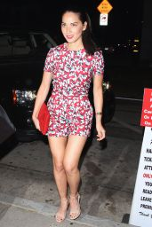 Olivia Munn Shows Off Her Legs - at Craig