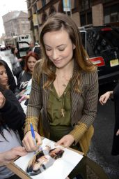 Olivia Wilde - Arriving at HuffPost Live in New York City, April 2015