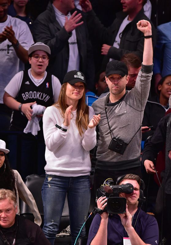 Olivia Wilde at the Brooklyn Nets Game in New York City, April 2015