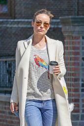 Olivia Wilde Walking Her Dog in New York City, April 2015