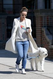 Olivia Wilde Walking Her Dog in New York City, April 2015