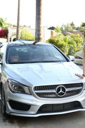 Peyton List Gets a New Mercedes For Her 17th Birthday in Los Angeles
