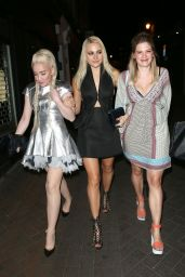 Pixie Lott & Alexis Knox -Lleave Cirque le Soir Night Club in London, April 2015