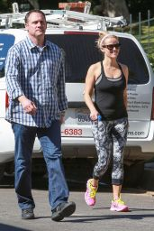 Reese Witherspoon in Leggings - Out in Pacific Palisades, April 2015