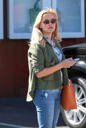 Reese Witherspoon in Tight Jeans - Out in Brentwood, April 2015