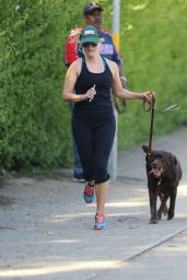 Reese Witherspoon - Jogging in Brentwood, April 2015