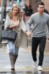 Rhian Sugden Street Style - Out for Lunch in Manchester, April 2015