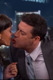 Rihanna Twizzler Challenge With Jimmy Kimmel, April 2015