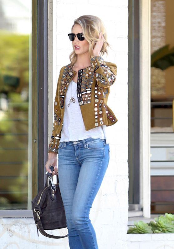 Rosie Huntington-Whiteley in Jeans - Out in Los Angeles, April 2015