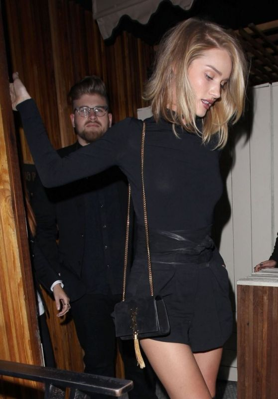 Rosie Huntington-Whiteley Night Out Style - West Hollywood, April 2015
