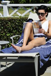 Rumer Willis - Candid Photoshoot at a Pool in Los Angeles, April 2015
