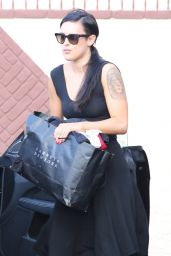 Rumer Willis in a Black Dress - DWTS in Hollywood, April 2015
