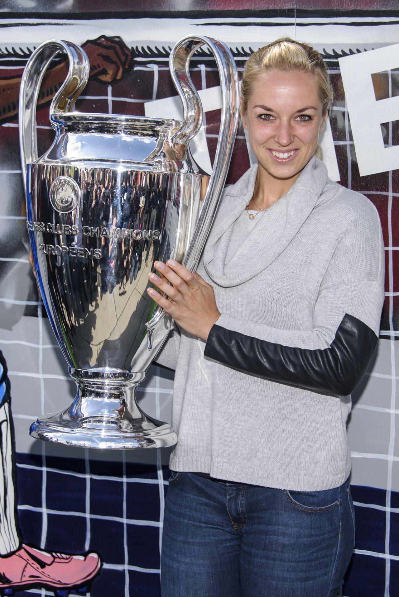 Sabine Lisicki - 2015 UEFA Champions League Trophy Tour in