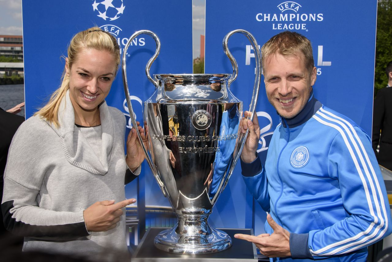 Sabine Lisicki - 2015 UEFA Champions League Trophy Tour in ...