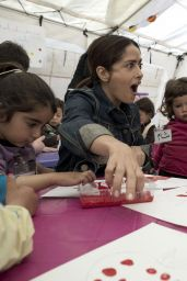 Salma Hayek - Meets With Syrian Refugees During Her Visit With UNICEF in the Bekaa Valley