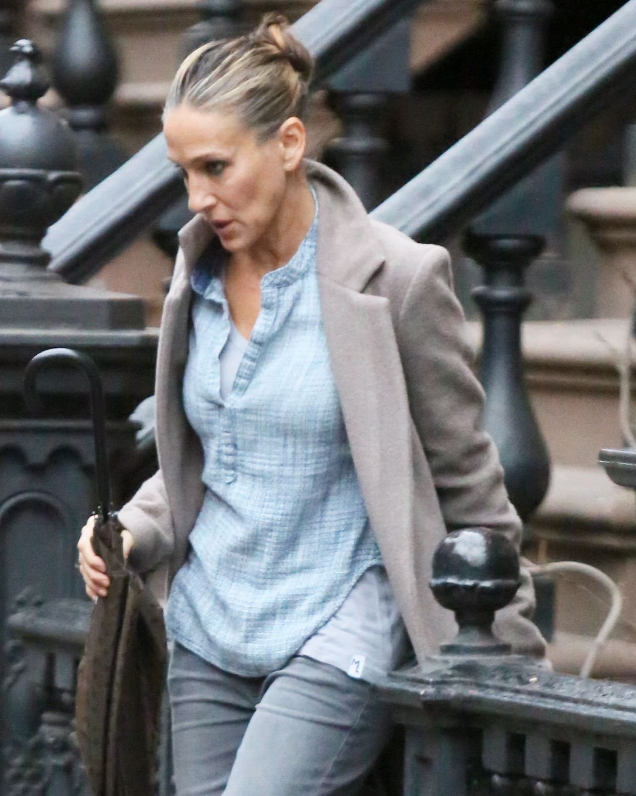 sarah jessica parker street style out in new york city