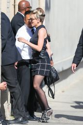 Scarlett Johansson Arriving to Appear on Jimmy Kimmel Live! in Hollywood - April 2015