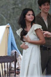 Selena Gomez on Set of