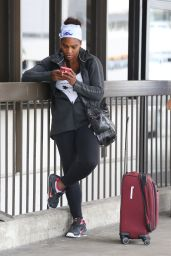 Serena Williams - at LAX Airport in Los Angeles, April 2015
