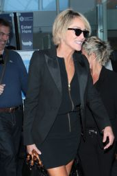 Sharon Stone at LAx Airport, April 2015