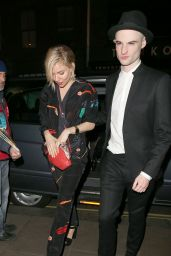 Sienna Miller Night Out Style - Groucho Club in London, April 2015