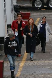 Sophie Turner on the set of