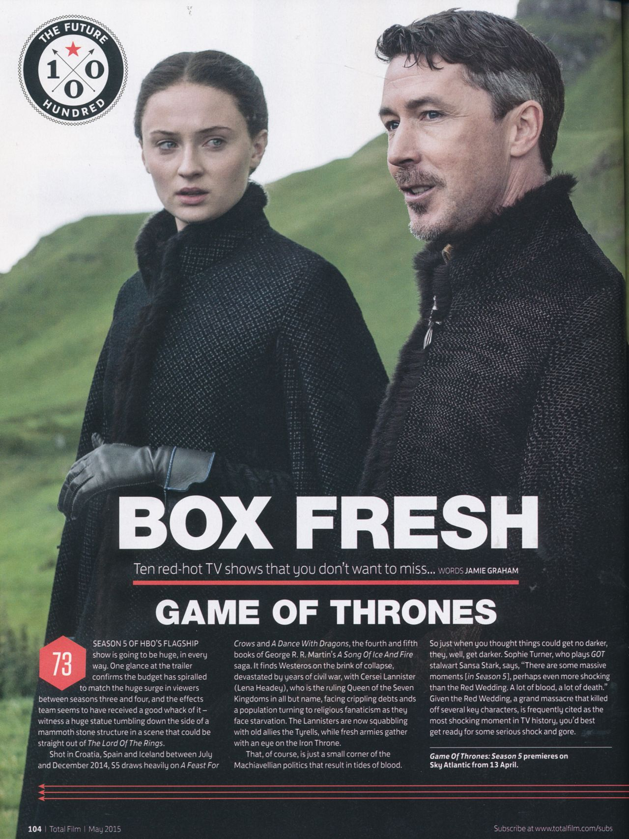 Sophie Turner - Total Film Magazine May 2015 Issue