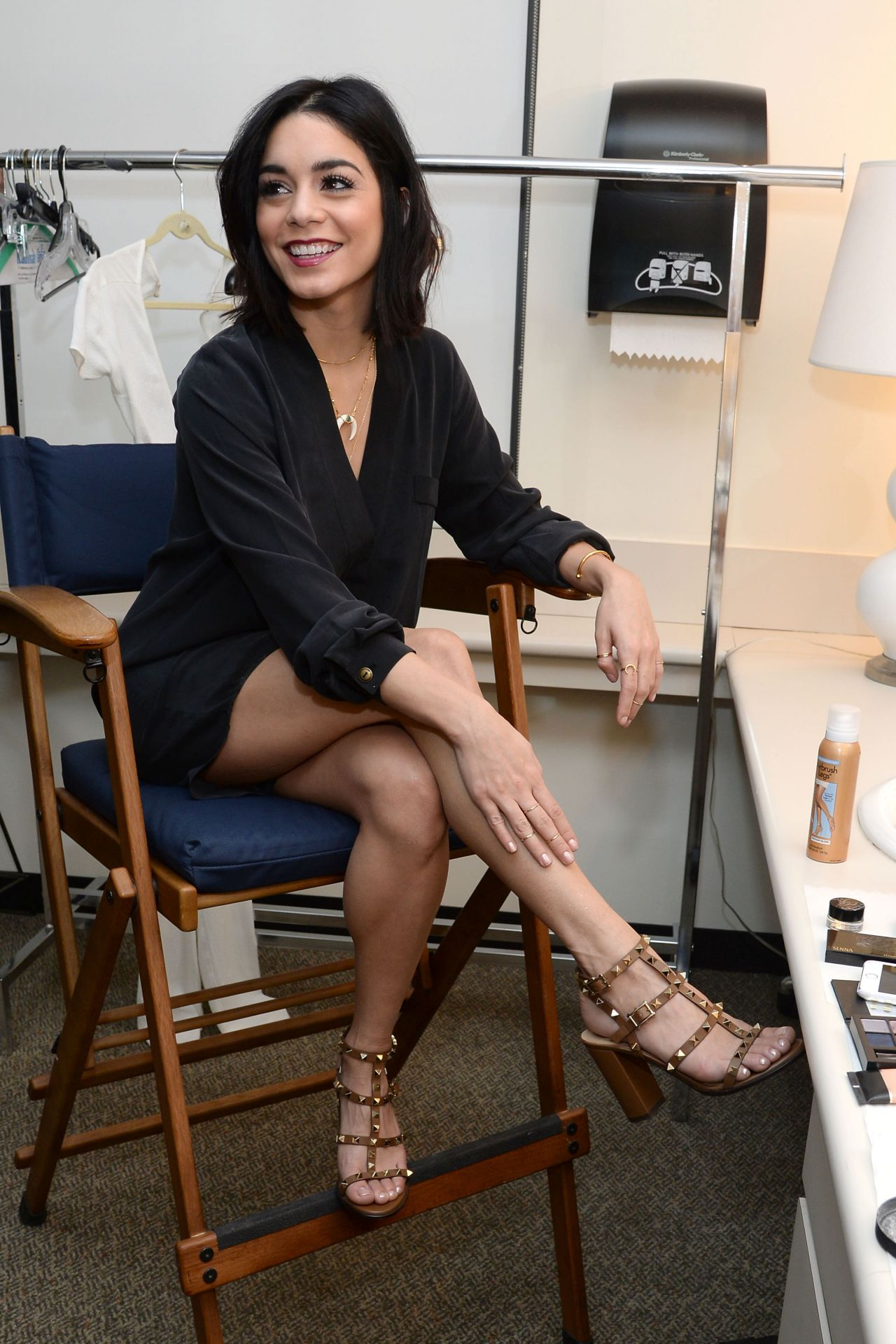Vanessa Hudgens - Backstage at ABC Studios in New York ...