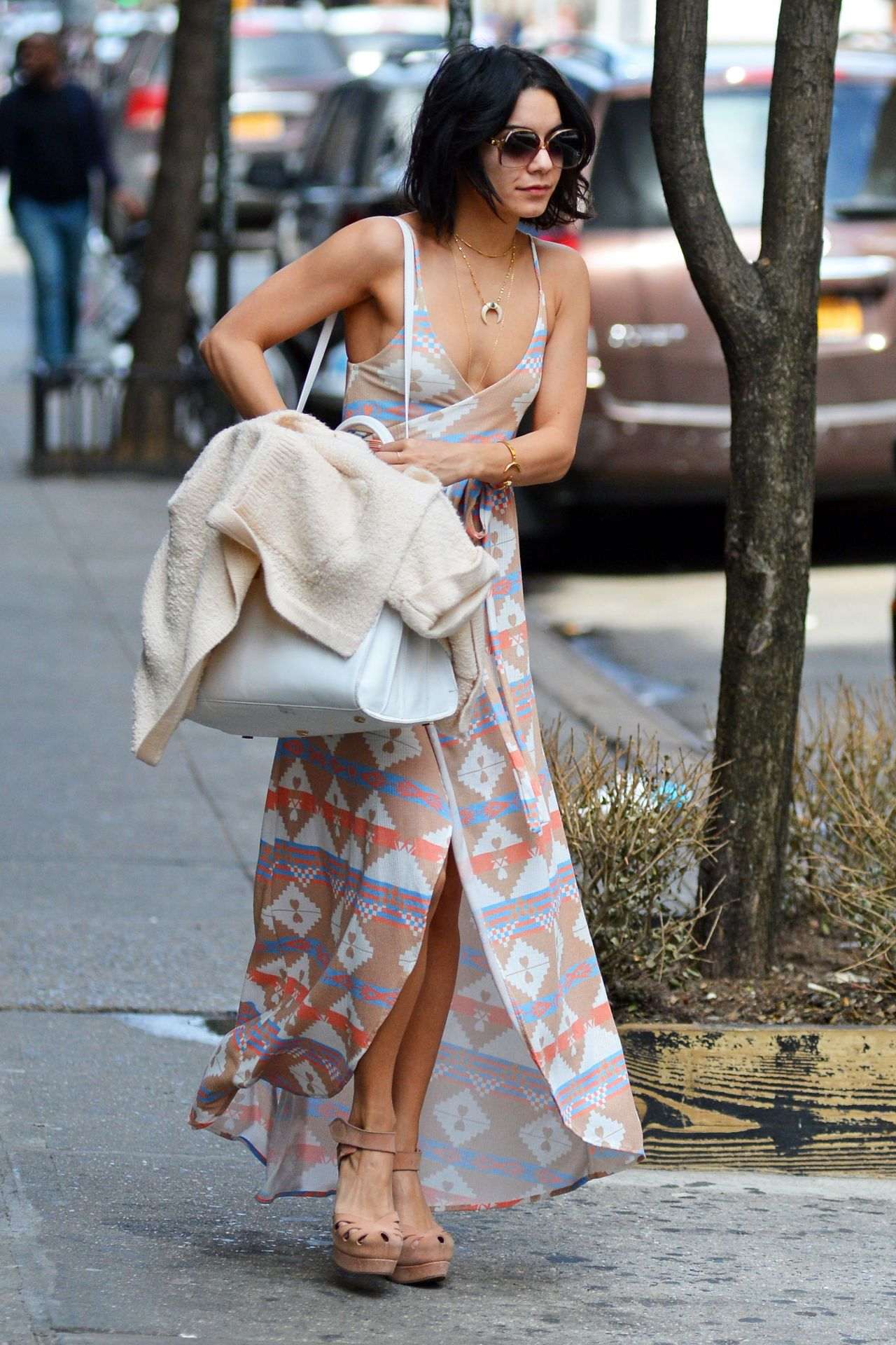 Vanessa Hudgens Casual Style Leaving Her Apartment In Soho April 2015