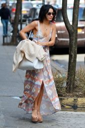 Vanessa Hudgens Casual Style - Leaving Her Apartment in Soho, April 2015